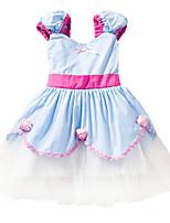 abordables -Belle Costume de Cosplay Fille Enfant Robes Noël Halloween Carnaval Fête / Célébration Tulle Coton Tenue Jaune / Bleu Princesse