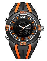 Недорогие -Муж. Спортивные часы электронные часы Кварцевый Стеганная ПУ кожа Оранжевый / Коричневый / Зеленый Защита от влаги Календарь Секундомер Аналого-цифровые На каждый день Мода - Серый Кофейный Зеленый