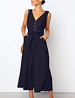 Недорогие -женское повседневное платье миди слиф с v-образным вырезом красный черный темно-синий s m l xl