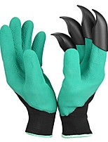 cheap -1Pair Garden Gloves 4 ABS Plastic Garden Genie Rubber Gloves With Claws Quick Easy to Dig and Plant gant de jardin