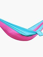 Недорогие -Туристический гамак На открытом воздухе Легкость Быстровысыхающий Воздухопроницаемость Нейлон для 1 человек Рыбалка Походы - Кофейный Военно-зеленный Rose розовый / синий