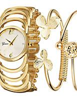 Недорогие -Жен. Часы-браслет Наручные часы Кварцевый Нержавеющая сталь Золотистый 30 m Повседневные часы Аналоговый Мода Элегантный стиль - Золотой Один год Срок службы батареи