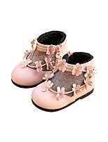 Недорогие -Девочки Обувь Искусственная кожа Зима Обувь для малышей Ботинки для Дети Бежевый / Розовый