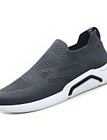 Недорогие -Муж. Комфортная обувь Tissage Volant Весна На каждый день Мокасины и Свитер Дышащий Черный / Серый