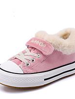 Недорогие -Девочки Обувь Кожа Зима Удобная обувь Кеды для Дети / Для подростков Серый / Розовый / Темно-зеленый