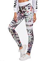 abordables -Femme Jacquard Pantalon de yoga - Violet, Vert, Bleu Des sports Impression réactive Collants / Leggings Course / Running, Fitness, Faire des exercices Tenues de Sport Respirable, Evacuation de / Slim