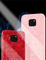Недорогие -Кейс для Назначение Huawei Huawei Mate 20 Pro / Huawei Mate 20 Зеркальная поверхность Кейс на заднюю панель Однотонный Твердый Закаленное стекло для Huawei Mate 20 lite / Huawei Mate 20 pro / Huawei
