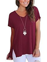 Недорогие -узкая женская блузка азиатского размера - однотонная шея