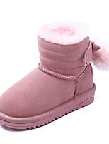 Недорогие -Девочки Обувь Замша Зима Удобная обувь / Зимние сапоги Ботинки для Для подростков Черный / Кофейный / Розовый