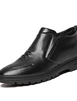 Недорогие -Муж. Комфортная обувь Кожа Зима На каждый день Мокасины и Свитер Сохраняет тепло Черный / Для вечеринки / ужина