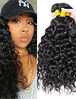 Недорогие -6 Связок Бразильские волосы Монгольские волосы Волнистые Не подвергавшиеся окрашиванию человеческие волосы Remy Головные уборы Человека ткет Волосы Сувениры для чаепития 8-28 дюймовый