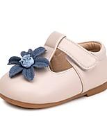 Недорогие -Девочки Обувь Искусственная кожа Весна & осень Удобная обувь / Обувь для малышей На плокой подошве для Дети Бежевый / Розовый