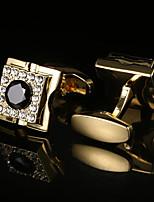 Недорогие -Кубик Белый / Черный Запонки Хрусталь / Медь Классика / Классический Муж. Бижутерия Назначение Для вечеринок / Подарок