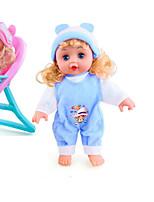 Недорогие -Куклы реборн Кукла для девочек Говорящая игрушка Девочки 16 дюймовый Силикон - Smart как живой Дети / подростки Детские Универсальные Игрушки Подарок