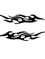 Недорогие -Белый / Черный Автомобильные наклейки Деловые / Спорт Наклейки с капюшоном / Светлые наклейки Пламя Стикеры