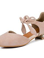 Недорогие -Жен. Искусственная кожа Весна лето Обувь на каблуках На низком каблуке Заостренный носок Черный / Бежевый / Розовый