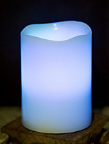 Недорогие -1шт LED Night Light Синий Аккумуляторы AA Атмосферная лампа