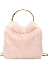 Недорогие -Жен. Мешки PU Сумка-шоппер Сплошной цвет Черный / Розовый / Хаки