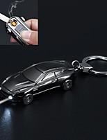 Недорогие -творческая модель автомобиля USB аккумуляторная электронная зажигалка портативный с брелок
