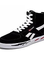 Недорогие -Муж. Комфортная обувь Полиуретан Весна На каждый день Кеды Нескользкий Контрастных цветов Черный / Темно-синий / Серый