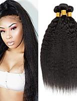 Недорогие -6 Связок Бразильские волосы Малазийские волосы Естественные прямые Не подвергавшиеся окрашиванию человеческие волосы Remy Подарки Косплей Костюмы Головные уборы 8-28 дюймовый Естественный цвет