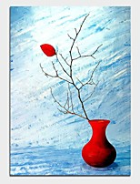 Недорогие -Hang-роспись маслом Ручная роспись - Натюрморт Modern Включите внутренний каркас