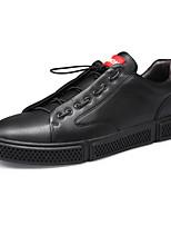 Недорогие -Муж. Комфортная обувь Полиуретан Осень Кеды Белый / Черный