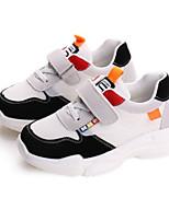 Недорогие -Девочки Обувь Полиуретан Осень Удобная обувь Спортивная обувь Беговая обувь для Для подростков Белый / Черный / Синий