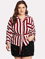 Недорогие -узкая женская футболка азиатского размера - воротник в полоску