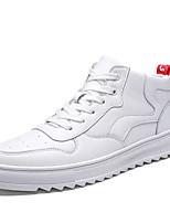 Недорогие -Муж. Комфортная обувь Полиуретан Весна & осень На каждый день Кеды Нескользкий Белый / Черный / Бежевый
