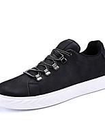 Недорогие -Муж. Комфортная обувь Полиуретан Зима На каждый день Кеды Нескользкий Черный / Черно-белый