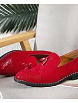 Недорогие -Муж. Кожаные ботинки Микроволокно Весна & осень Мокасины и Свитер Черный / Красный