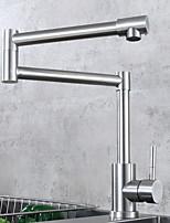 Недорогие -кухонный смеситель - Одной ручкой одно отверстие Электропокрытие Стандартный Носик Свободно стоящий Обычные Kitchen Taps