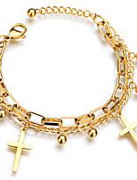 Недорогие -Жен. Мода браслет - Многослойность Однотонный