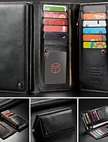 abordables -CaseMe Coque Pour Blackberry / Apple / Samsung Galaxy Universel Portefeuille / Porte Carte Coque Intégrale Couleur Pleine Dur faux cuir pour iPhone XS Max / S9 Plus / Note 9