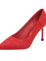 Недорогие -Жен. Полиуретан Весна Минимализм Обувь на каблуках На шпильке Заостренный носок Черный / Красный