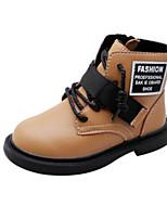 Недорогие -Девочки Обувь Микроволокно Зима Удобная обувь / Армейские ботинки Ботинки для Для подростков Черный / Желтый