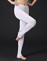 baratos -Dança do Ventre Calça Legging Mulheres Treino / Espetáculo Modal Franzido Natural Calças