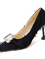 Недорогие -Жен. Полиуретан Весна На каждый день Обувь на каблуках На шпильке Белый / Черный / Лиловый