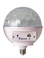 Недорогие -1 шт. E27 база rgb светодиодная лампа со звуковым ящиком bluetooth музыкальный динамик магический шар светодиодный фонарик музыки вспышка света