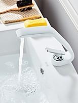 abordables -Robinet lavabo - Séparé Finitions Peintes Set de centre Mitigeur un trouBath Taps
