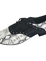 Недорогие -Муж. Обувь для латины Полиуретан На каблуках Толстая каблук Танцевальная обувь Черный