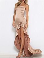 Недорогие -Жен. Элегантный стиль Оболочка Платье - Однотонный, С разрезами Макси