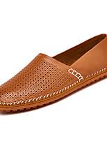 Недорогие -Муж. Комфортная обувь Кожа / Полиуретан Весна На каждый день Мокасины и Свитер Нескользкий Темно-синий / Желтый / Коричневый