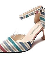 Недорогие -Жен. Хлопок Весна На каждый день Обувь на каблуках На каблуке-рюмочке Желтый / Синий / Контрастных цветов