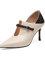 Недорогие -Жен. Наппа Leather Лето Обувь на каблуках На шпильке Черный / Бежевый