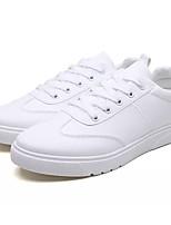 Недорогие -Муж. Комфортная обувь Полиуретан Весна лето На каждый день Кеды Нескользкий Белый / Черный