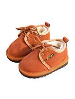 Недорогие -Девочки Обувь Кожа Зима Обувь для малышей Ботинки На эластичной ленте для Дети Красный / Темно-русый / Светло-Розовый