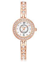 Недорогие -Жен. Наручные часы Кварцевый Серебристый металл / Розовое золото Новый дизайн Повседневные часы Имитация Алмазный Аналоговый На каждый день Мода -  / Один год