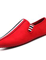 Недорогие -Муж. Комфортная обувь Замша Весна На каждый день Мокасины и Свитер Дышащий Черный / Красный